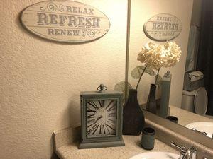 Bathroom decor set. Sea foam dark grey. Rug, soap dispenser, towel, etc. for Sale in Paradise Valley, AZ