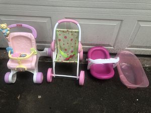 Lot of baby girl doll items for Sale in South Windsor, CT