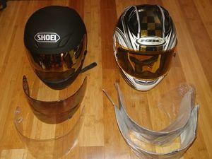 KBC RACER-1 COMET helmet 3 shields each for Sale in Heidelberg, PA