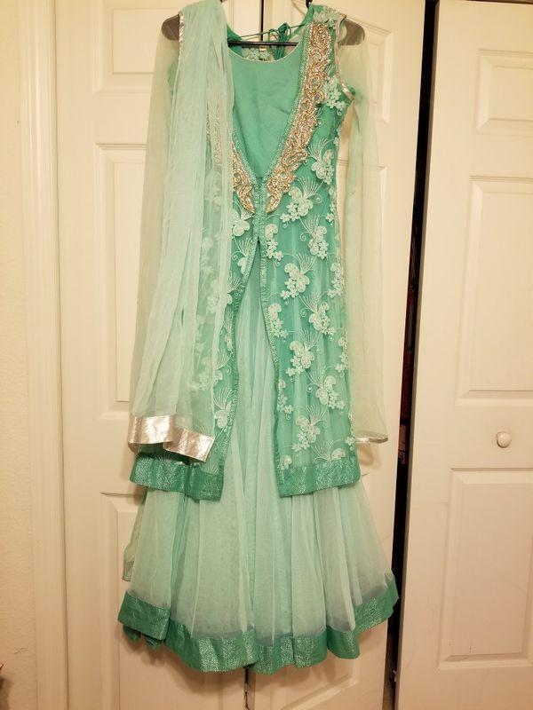 Frozen Elsa Indian Pakistani Long Dress