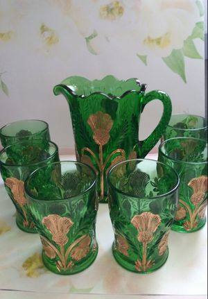 Antique Northwood Glass Water Set for Sale in Wilmington, CA