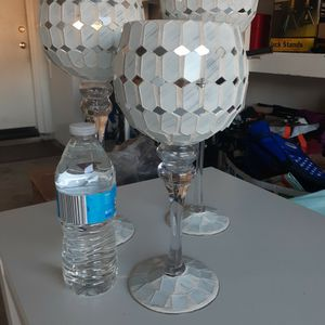 New Mirrored Candle holders Set Of 3 for Sale in Chino Hills, CA