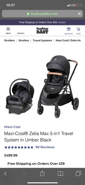 Maxi Cosi Zelia Max 5-1travel system,stroller,car seat,baby stuff,baby clothes,baby toys for Sale in Riverside, CA