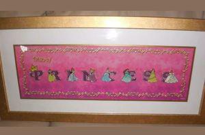 Disney Princess framed pin set for Sale in Davenport, FL