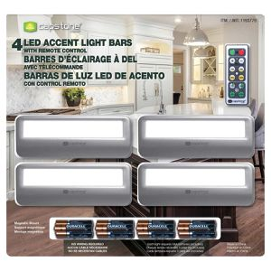 4x CAPSTONE LED Accent Light Bars with Remote control Battery operated NEW for Sale in Pompano Beach, FL