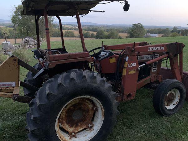 Hesston 45-66 loader tractor.
