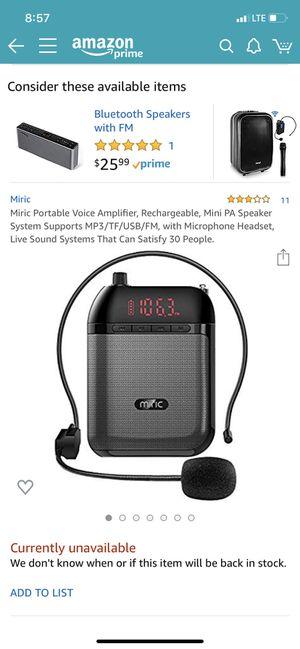 Portable Voice Amplifier for Sale in Tempe, AZ