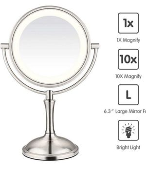 """AmnoAmno LED Makeup Mirror-10x Magnifying,7.8"""" Double Sided Lighted Vanity Makeup Mirror with Stand, Touch Button Adjustable Light-Cord or for Sale in Oxnard, CA"""