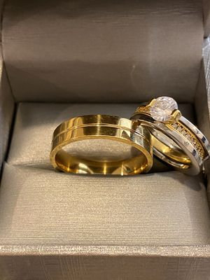 Cute 18K Gold plated Matching Ring Set—Code ATS26 for Sale in Dallas, TX