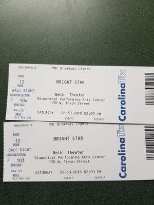 BRIGHT STAR BROADWAY MUSICAL for Sale in Charlotte, NC