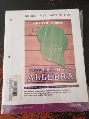 PEARSON Intermediate Algebra for Sale in Chino, CA