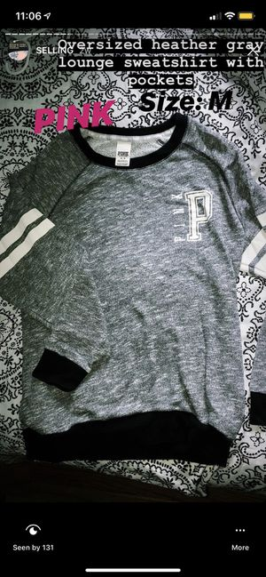 Relax fit PINK Victoria's Secret crewneck hoodie with pockets for Sale in Macomb, MI