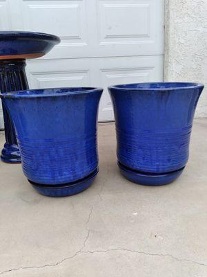 "New Planting Pot ""Ismara Planter Blue 14.5in."" $50ea$ ObO 😷 for Sale in San Bernardino, CA"