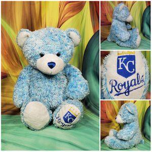"Build a Bear Kansas City Royals Light Motley Blue Teddy 14"" KC BAB Stuffed Plush for Sale in Dale, TX"