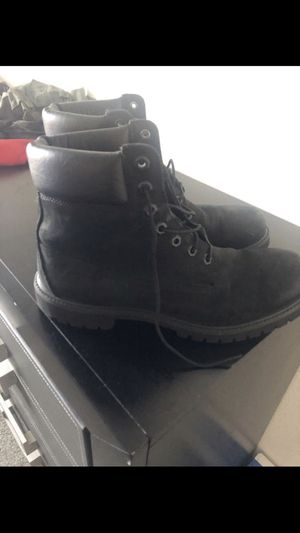 """Black timberland boots 6"""" premium 🥾 steel toe boots work boots for Sale in Tampa, FL"""