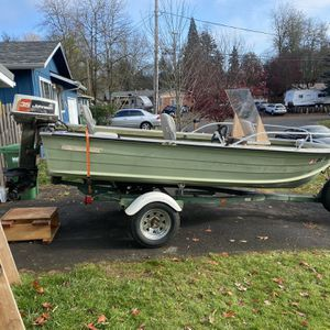 14' Starcraft Mariner Aluminum Boat With Calkins Trailer-35 Hp Johnson Outboard-runs Good for Sale in Tigard, OR