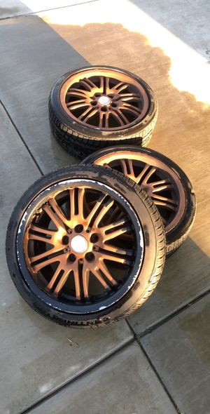 "E46 M3 eurotek wheels 19"" 5x120 for Sale in Manteca, CA"