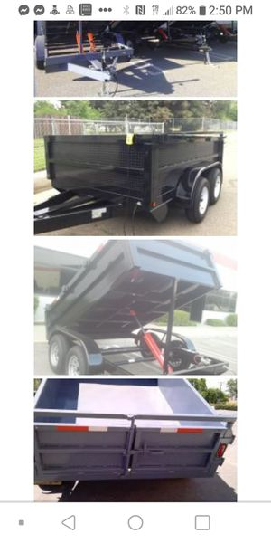 Dump trailer 8x10x2 trandum axel for Sale in Modesto, CA