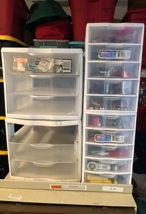 Plastic Drawers 5 Set for Sale in San Diego, CA
