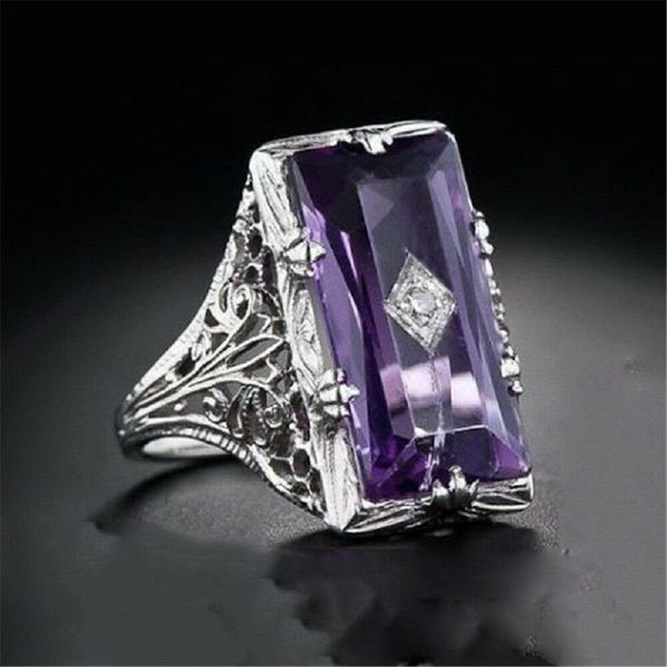 NEW ARRIVAL* Amethyst Purple Wedding Engagement Ring Jewelry Sizes 6/7/8/9/10 *See My Other 800 Items*