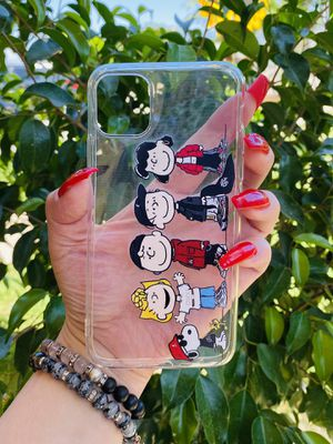 Brand new cool iphone 11 PRO MAX 6.5 case cover phone case rubber Clear transparent see through peanuts girls guys mens womens skate skateboard swag for Sale in San Bernardino, CA