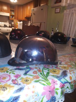 Chrome polo jockey non dot motorcycle helmet size xxl for Sale in Phoenix, AZ