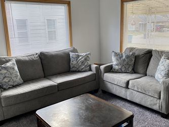 Grey Sofa Set With Pillows for Sale in Dearborn,  MI