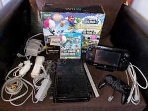 Nintendo wii u console, mario and Luigi set, 32 gb. for Sale in San Jose, CA