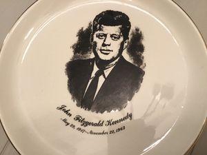 President John F Kennedy 1964 Memorial Glass Plate for Sale in Goodlettsville, TN