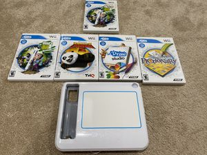 Nintendo Wii U Draw Game Tablet and 4 Wii U Draw Games for Sale in Kent, WA