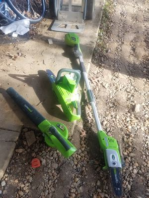 GREENWORKS LITHIUM POWER TOOLS for Sale in Fairfax, VA
