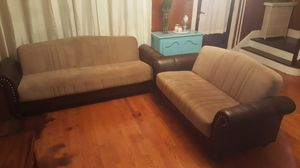 Two piece sofa with storage compartment for Sale in US