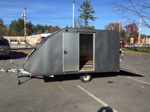 """2013 Mission hybrid 12'x101"""" enclosed crossover trailer all aluminum will trade for Sale in Westford, MA"""