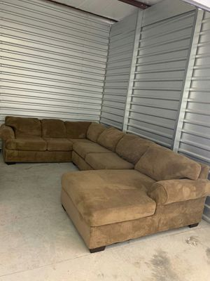 Large tan sectional couch / sofa for Sale in Milton, FL