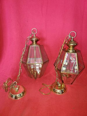 2 vintage lantern chandeliers for Sale in Eustis, FL