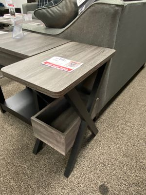 Alison ChairSide/End Table, Distressed Grey and Black, SKU # 161861 for Sale in Pico Rivera, CA