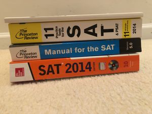 SAT prep books (4) for Sale in Chantilly, VA