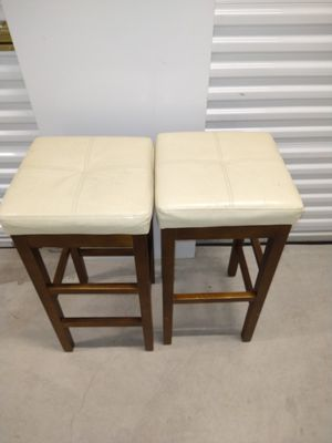 2 cream bar stools for Sale in Portland, OR