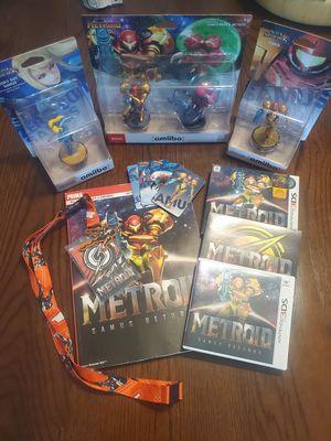 Metroid Amiibos Samus Returns and walkthrough bundle. for Sale in Conklin, NY