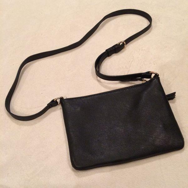 Black cross-body bag