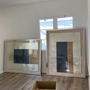 Two Contemporary Float Mount Prints for Sale in Marina del Rey, CA