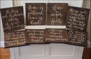 1 Corinthians 13 Wedding Signs for Sale in Stone Ridge, VA