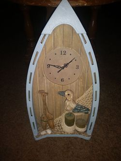 Hanging Fishing boat clock for Sale in Oklahoma City,  OK