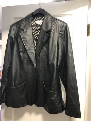 Women's size large leather jacket for Sale in Severna Park, MD