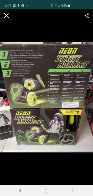 New neon Street rollers fits any shoe for Sale in Riverside, CA