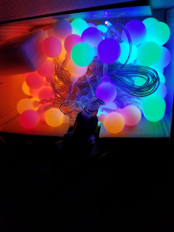 Colorful strings light. New plug in. 44ft 100 led good for party . Decorate your house.