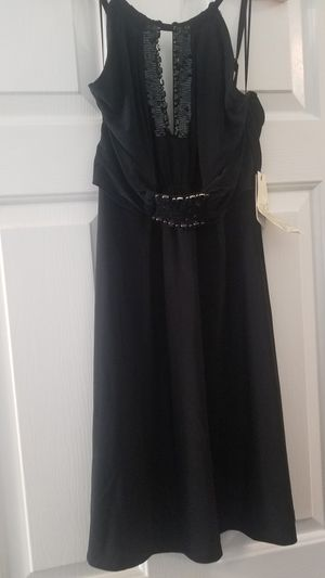 Guess NWT Black Spaghetti Strap Sequin Cocktail Dress size med for Sale in Knightdale, NC