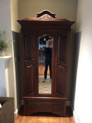 Antique Cherry Wood Armoire for Sale in San Francisco, CA