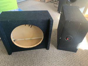 Sub woofer speaker box 2 pair for Sale in Santee, CA