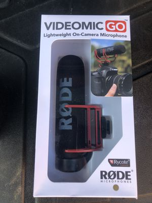 rode microphone for canon 80d for Sale in Naperville, IL